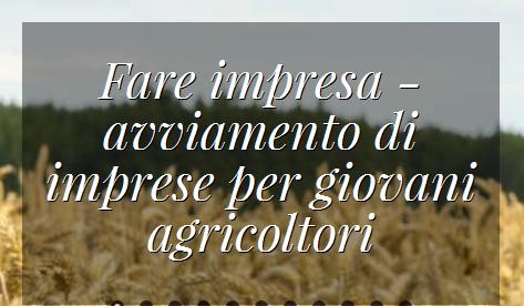 fare impresa agricoltura